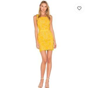 Yellow lace dress- Revolve